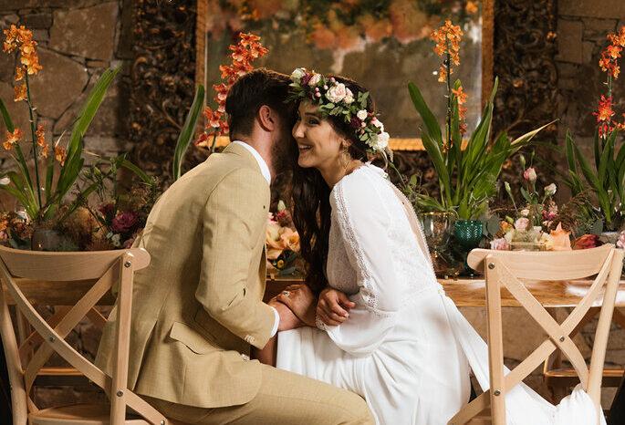 casamento noivos decoração outonal